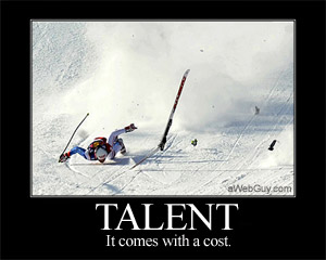 Talent comes with a cost.